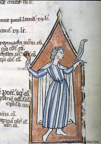 1255-56 Psalter Bruges. 1256 Morgan Library MS M.106 fol. 3r Mai