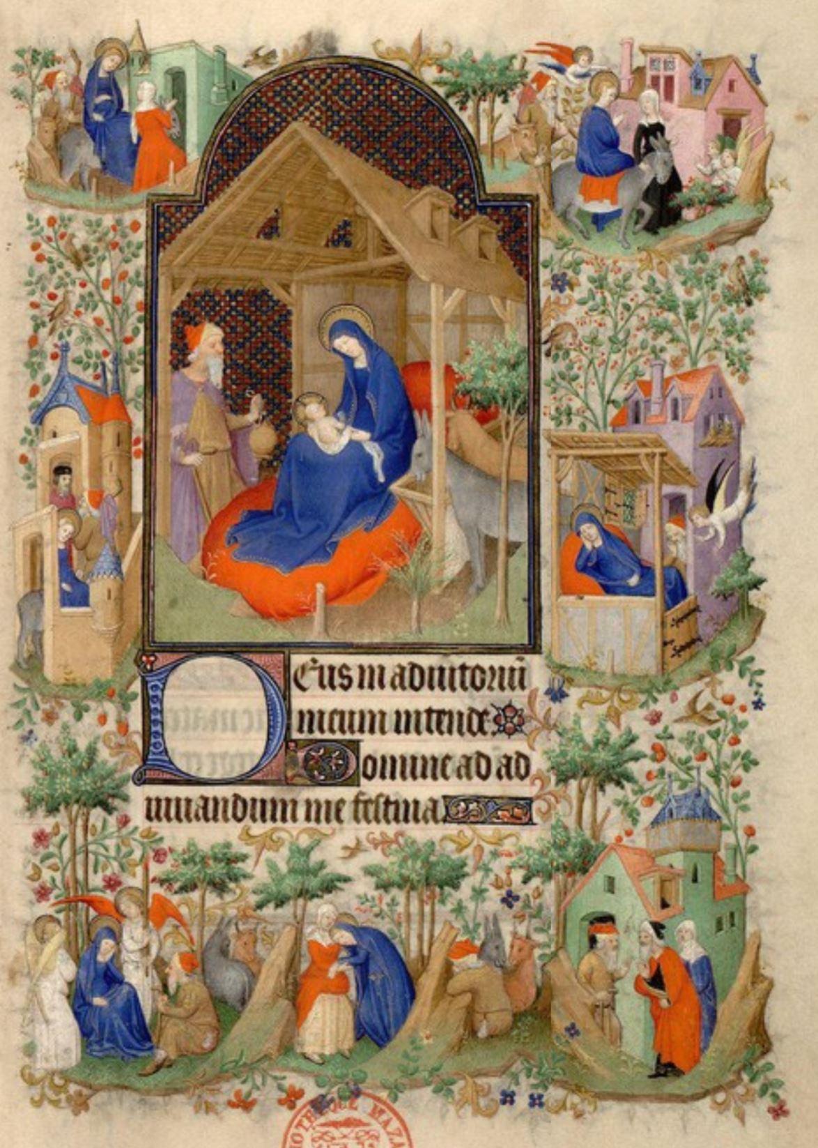 1410-1415 Maitre de la Mazarine Nativite Heures Mazarine, Mazarine MS 469 fol 50