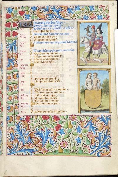1470 ca Book of Hours PariMorgan Library MS M.73 fol. 3r Mai