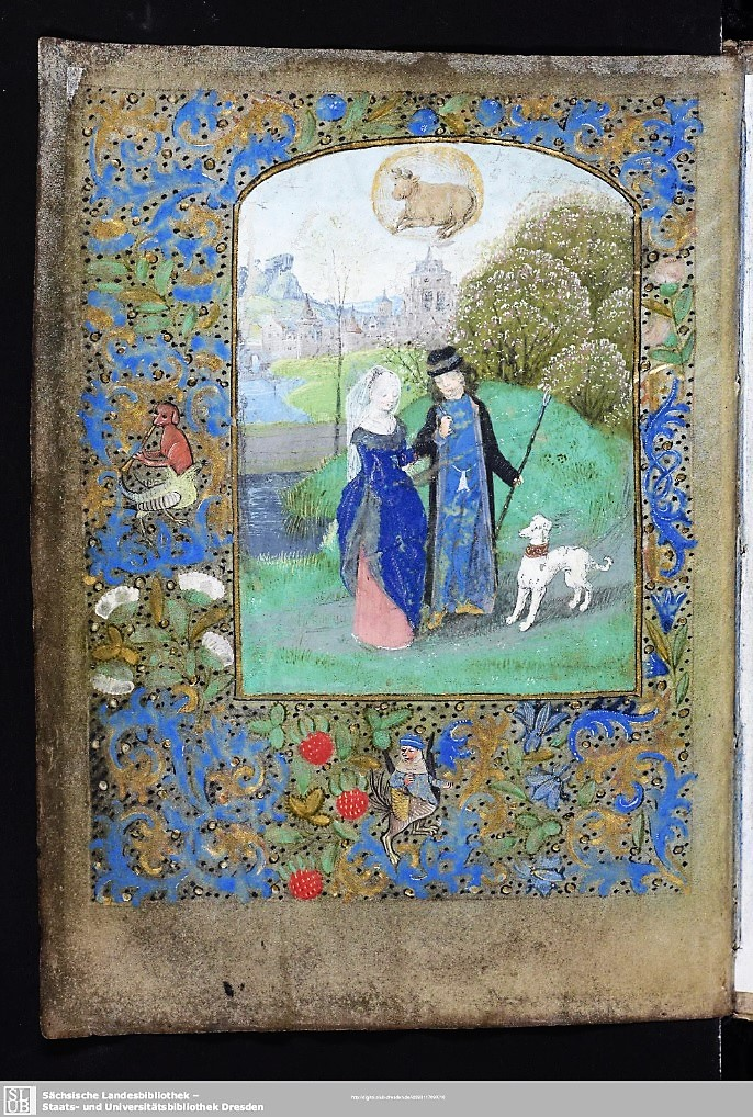1470 ca Master of the Dreden Prayer Boook Dresden, SLUB, Mscr. Dresd. A.311 fol 4v april