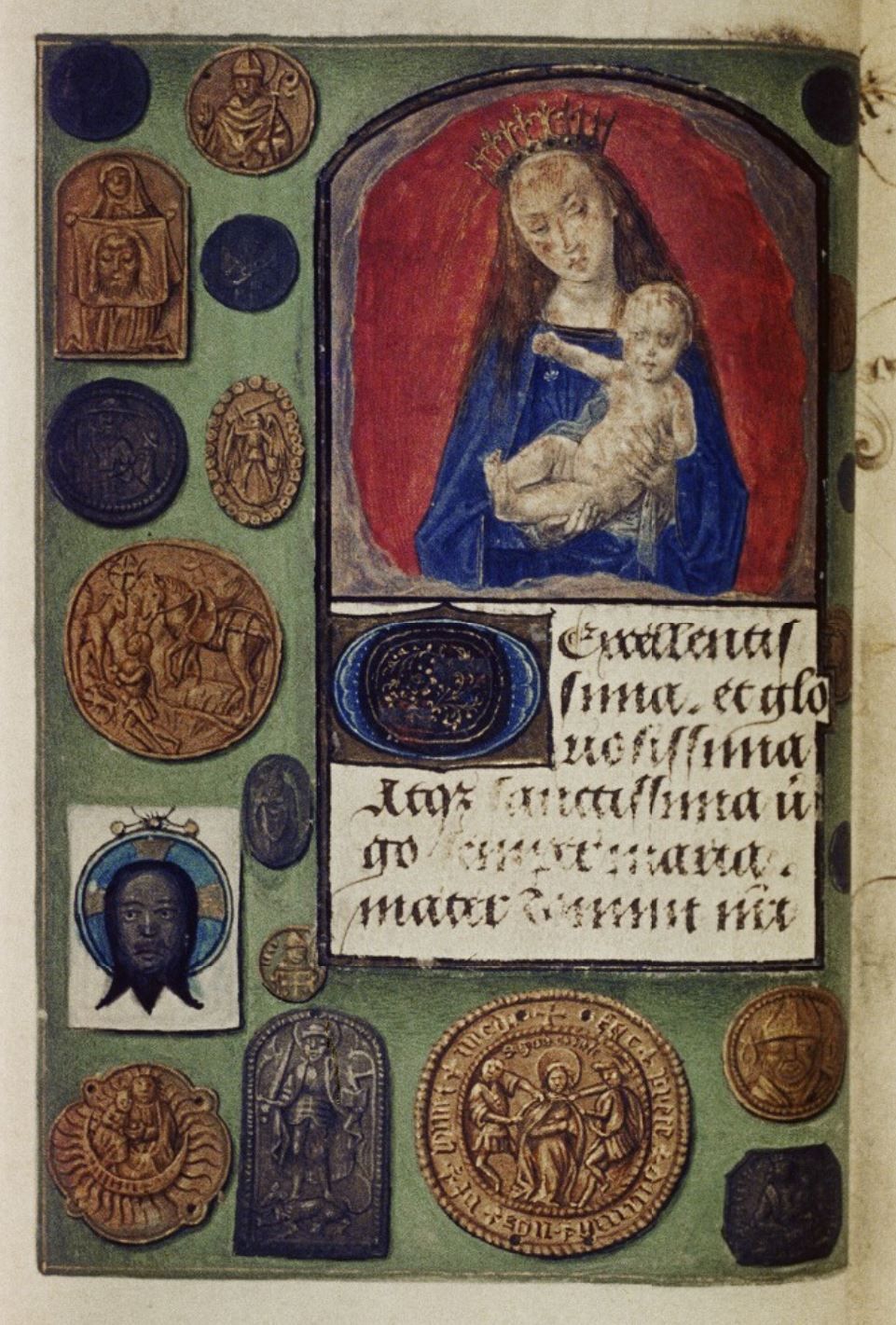 1475 ca Master of Mary of Burgundy Hours of Engelbert of Nassau Bodleian Library MS. Douce 220 fol 14v