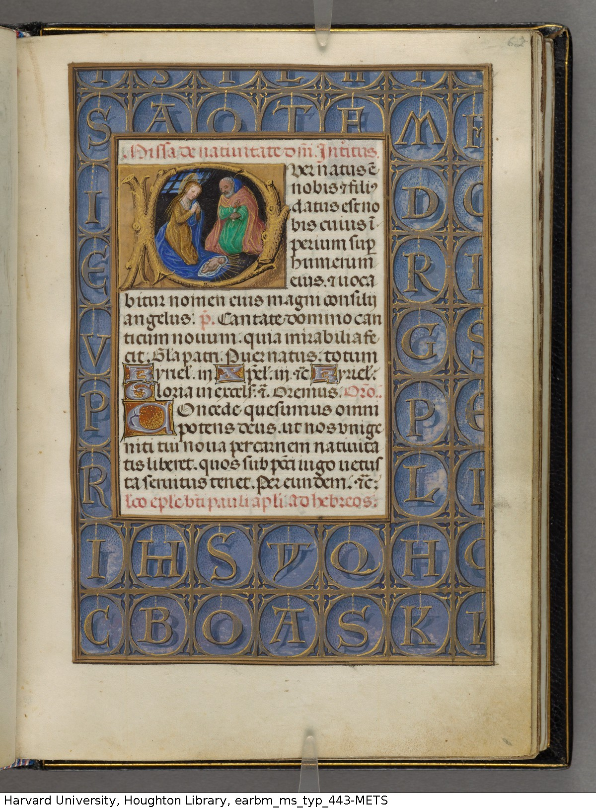 1480 ca Emerson-White Hours use of Rome Harvard University, Houghton Library, MSS Typ 443 fol 62