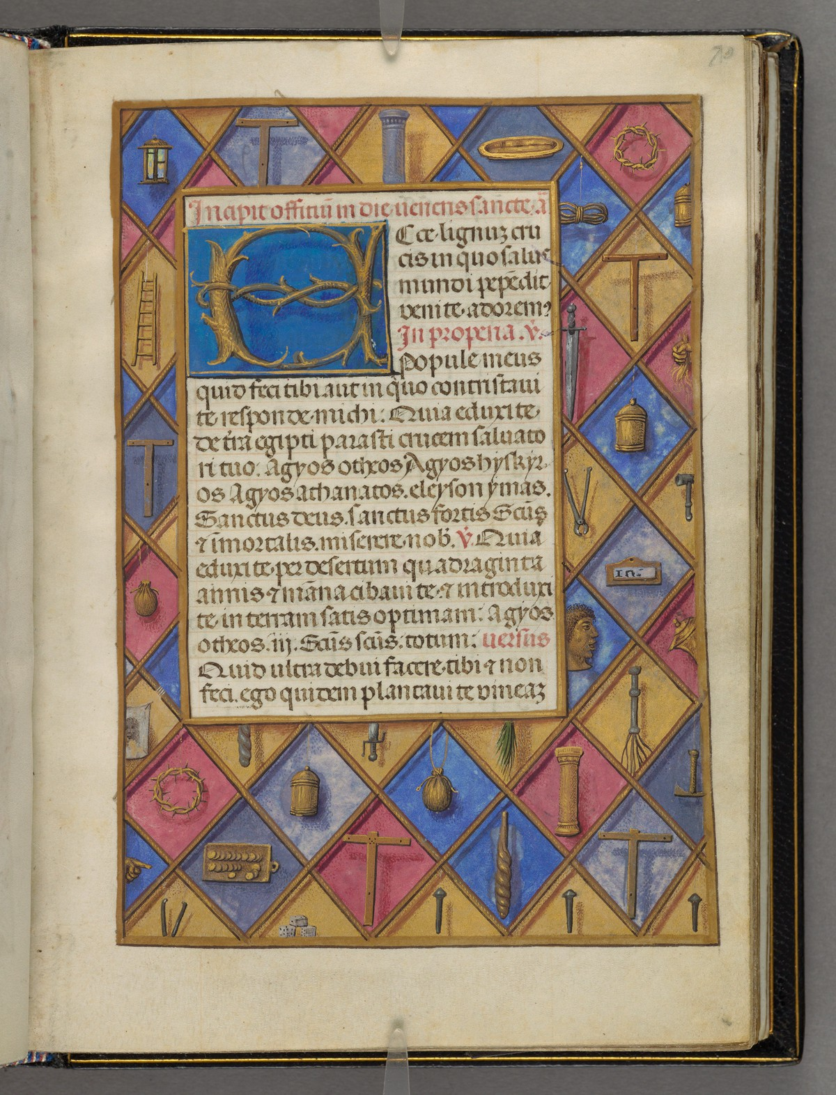 1480 ca Emerson-White Hours use of Rome Harvard University, Houghton Library, MSS Typ 443 fol 70