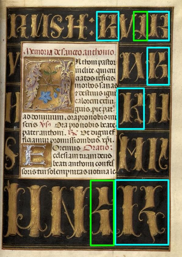 1483-98 Horae Beatae Mariae Virginis (La Flora, pour Charles VIII) Biblioteca nazionale Napoli BNN Ms. I. B. 51 fol 324 schema