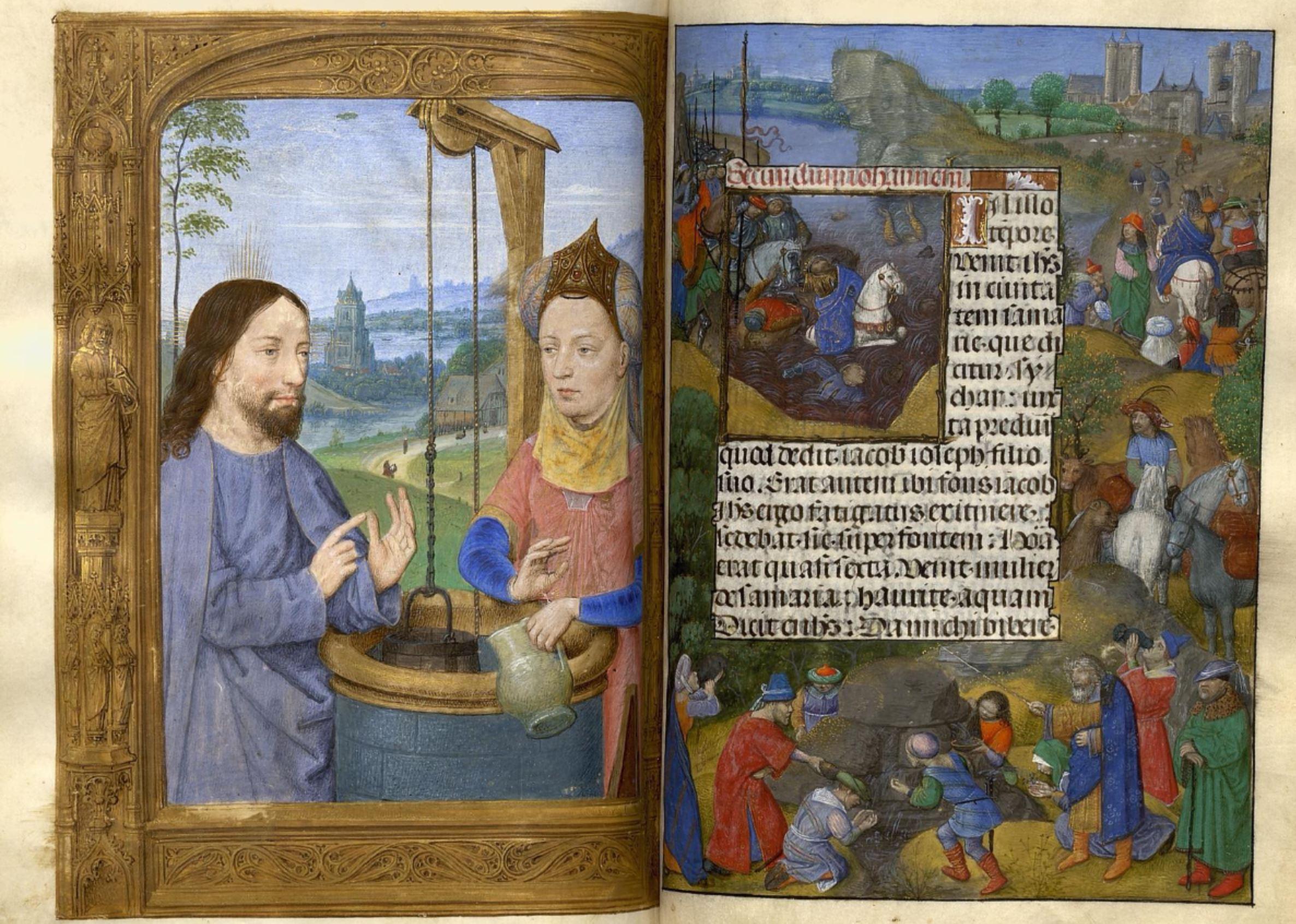 1483-98 Horae Beatae Mariae Virginis (La Flora, pour Charles VIII) Biblioteca nazionale Napoli Ms. I. B. 51 fol 286