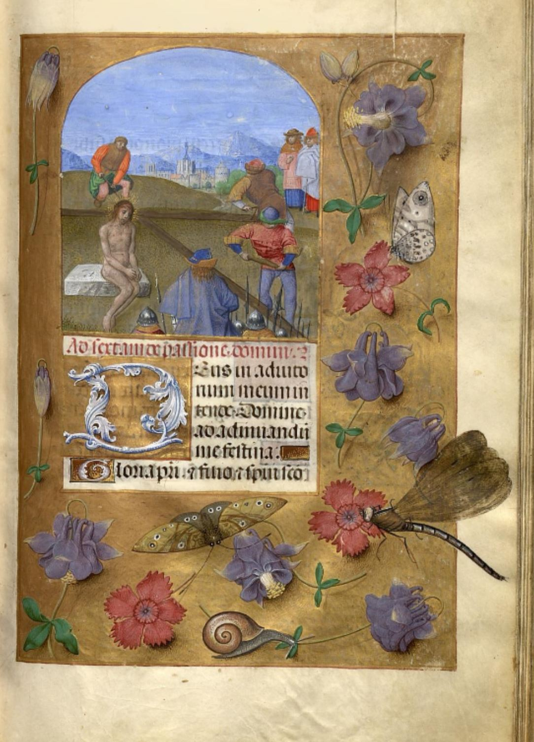 1483-98 Horae Beatae Mariae Virginis (La Flora, pour Charles VIII) Biblioteca nazionale Napoli Ms. I. B. 51 fol 45