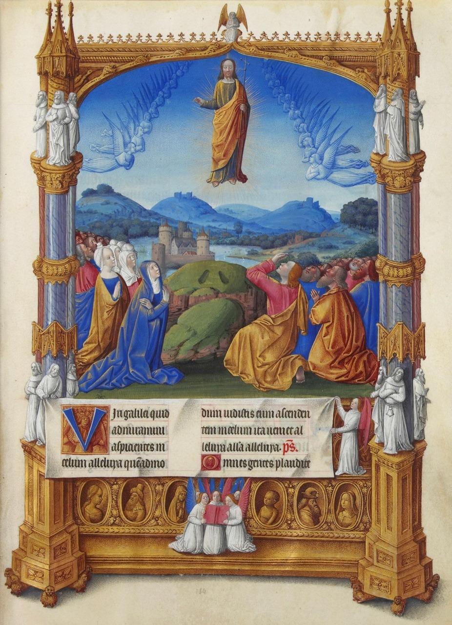 1485-86 Jean colombe Ascension Tres riches heures du duc de Berry fol 184r