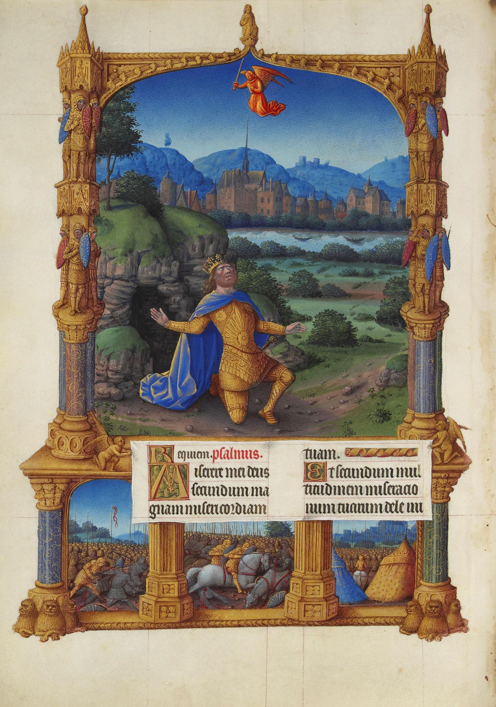 1485-86-Jean-colombe-Miserere-le-roi-David-Tres-riches-heures-du-duc-de-Berry-fol-100r-