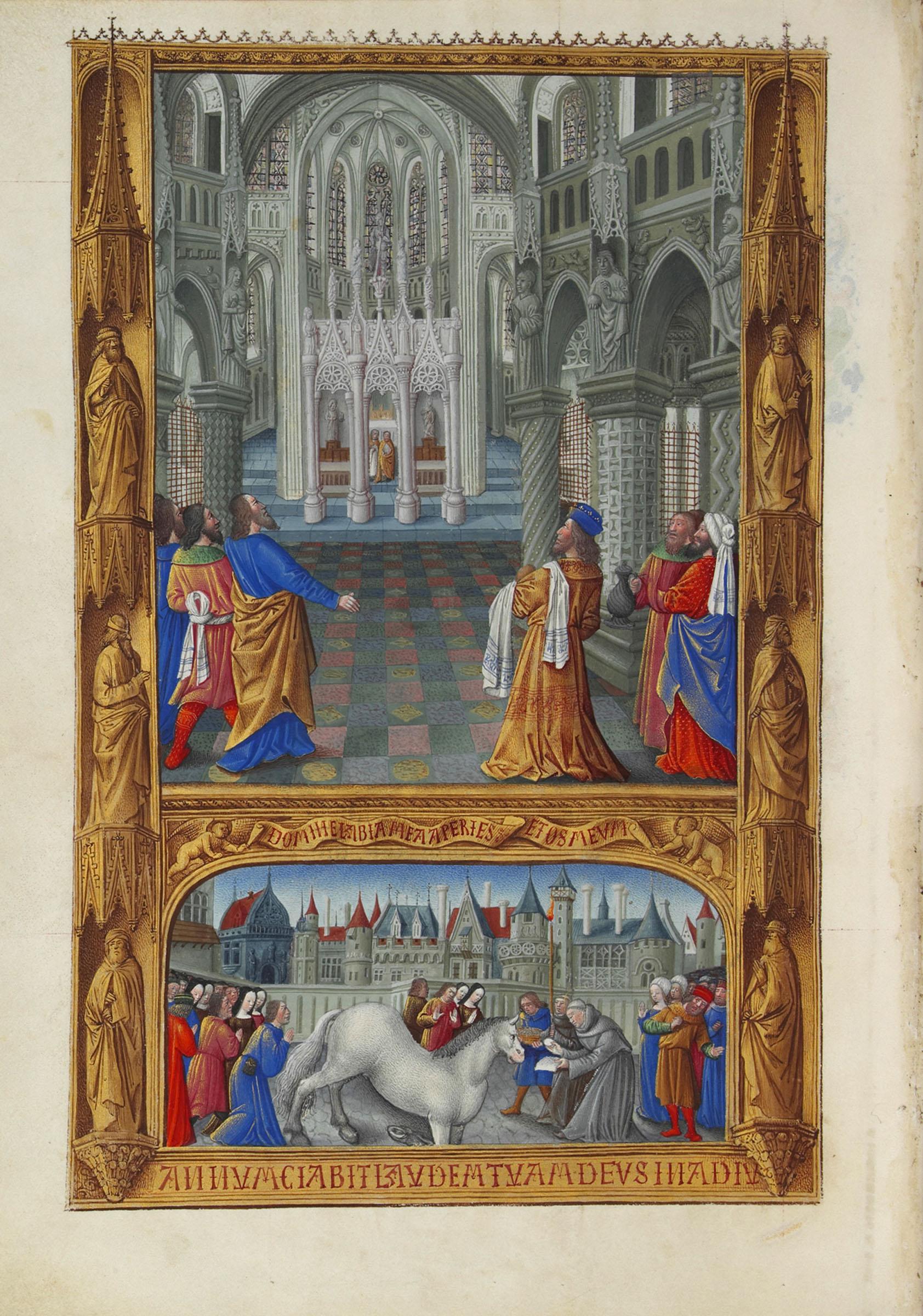1485-86-Jean-colombe-Tres-riches-heures-du-duc-de-Berry-Le-Saint-Sacrement-fol-129v-
