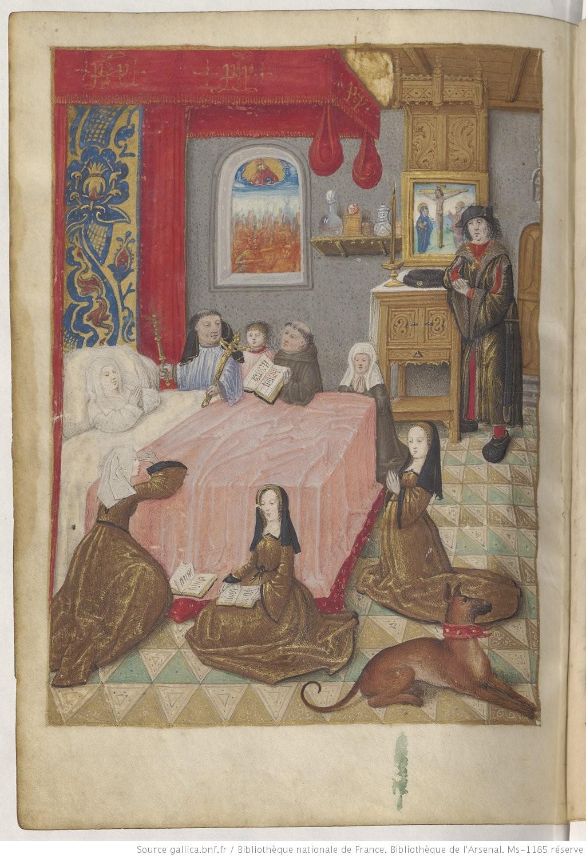 1490-96 Heures de Boussu, BNF Arsenal. Ms-1185 reserve fol 373v Gallica