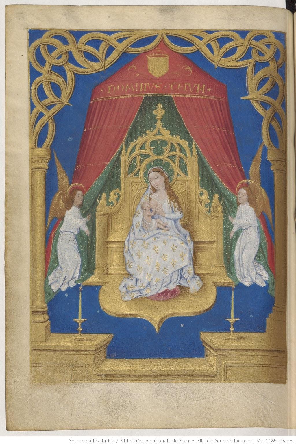 1490-96 Heures de Boussu, BNF Arsenal. Ms-1185 reserve fol 53v Gallica