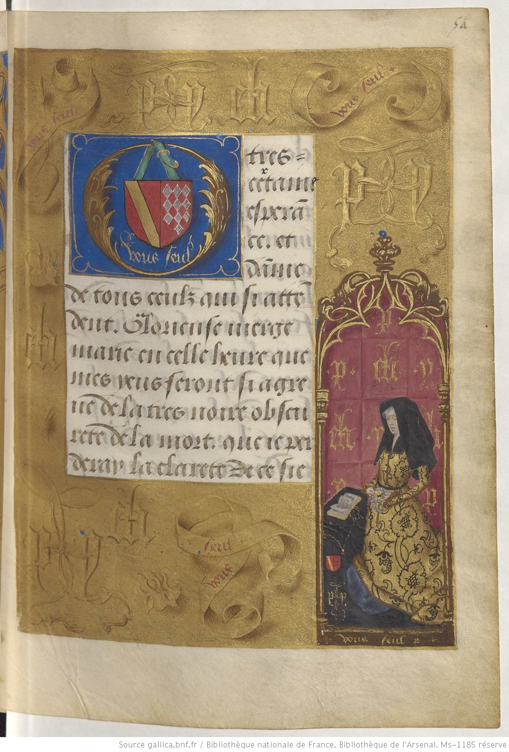 1490-96 Heures de Boussu, BNF Arsenal. Ms-1185 reserve fol 54r Gallica