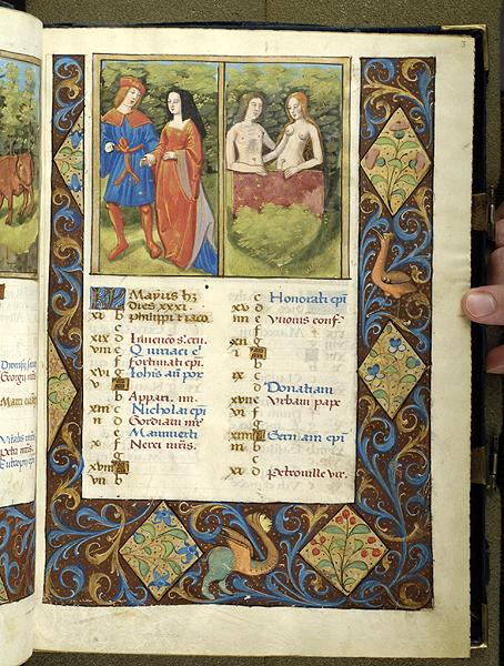 1495-98 Breviaire, Paris, Morgan Library MS M.934 fol. 3r Mai
