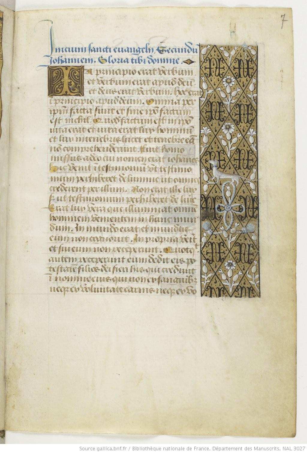1500-05 Maitre des Triomphes de Petrarque Petites Heures d'Anne de Bretagne BNF NAL 3027 fol 7r Gallica