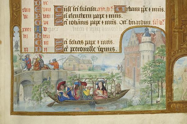 1500 ca Breviary Belgium, Bruges, MS M.52 fol. 4r Morgan Library detail