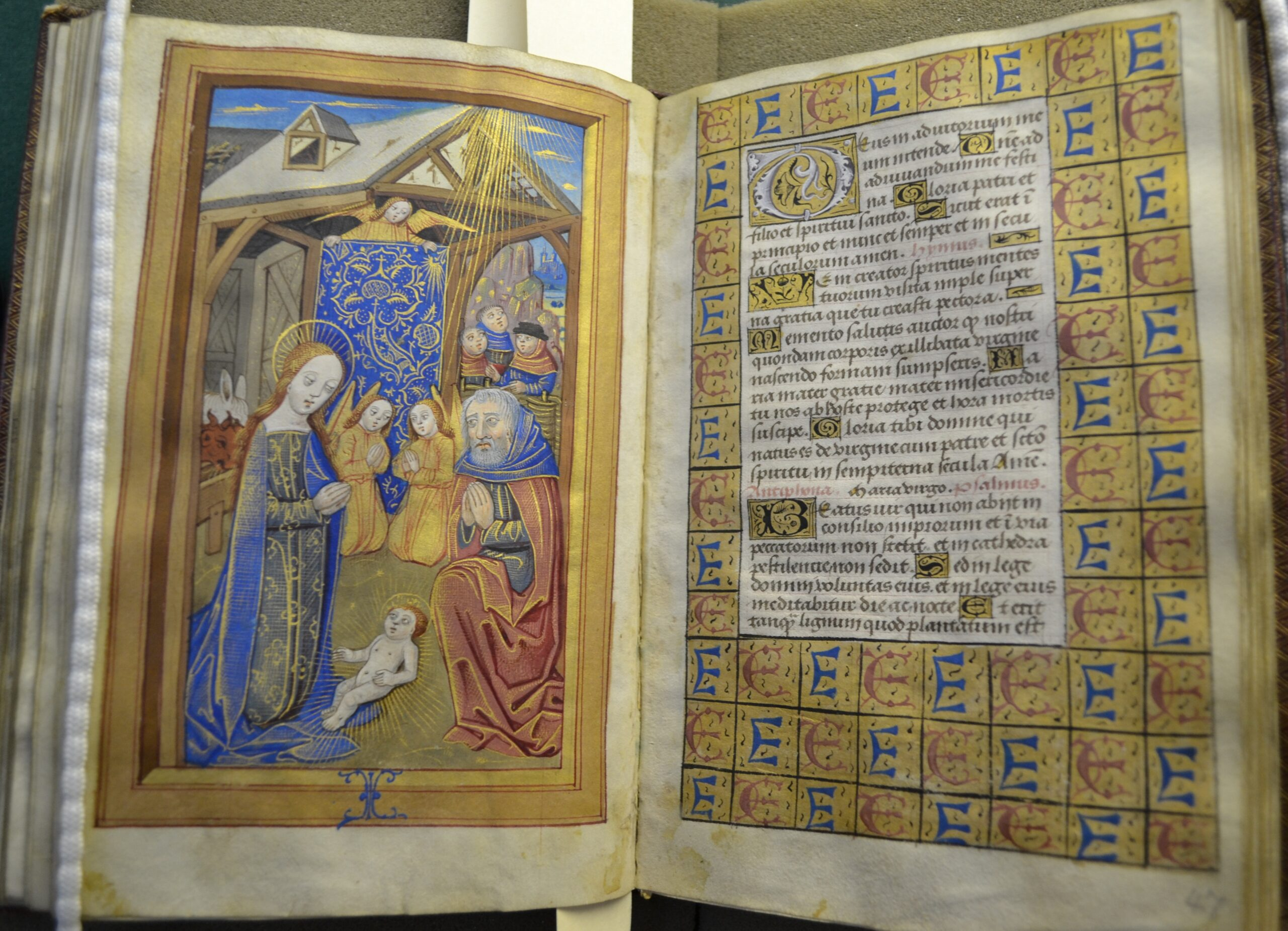 1500 ca Heures a l'usage de Rouen Society of Antiquaries of London SAL MS 13 62v-63 IEHAN DVFOVR and MARGUERITE AVTIN