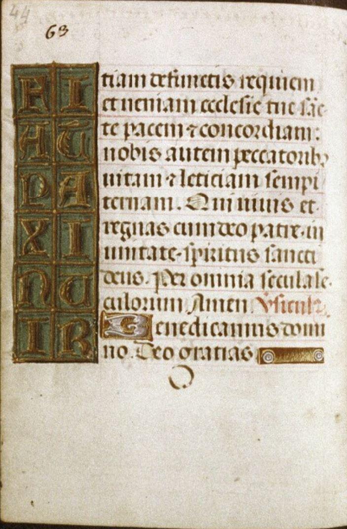 1500 ca MS. Douce 8 fol 63