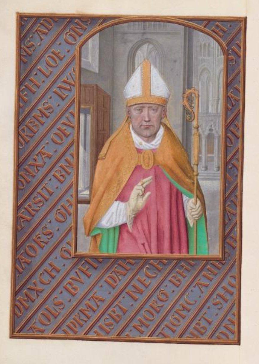1500 ca Master of the First Prayerbook of Maximillian Hours of Queen Isabella the Catholic, Cleveland Museum of Arts, Fol 183v, St. Nicholas