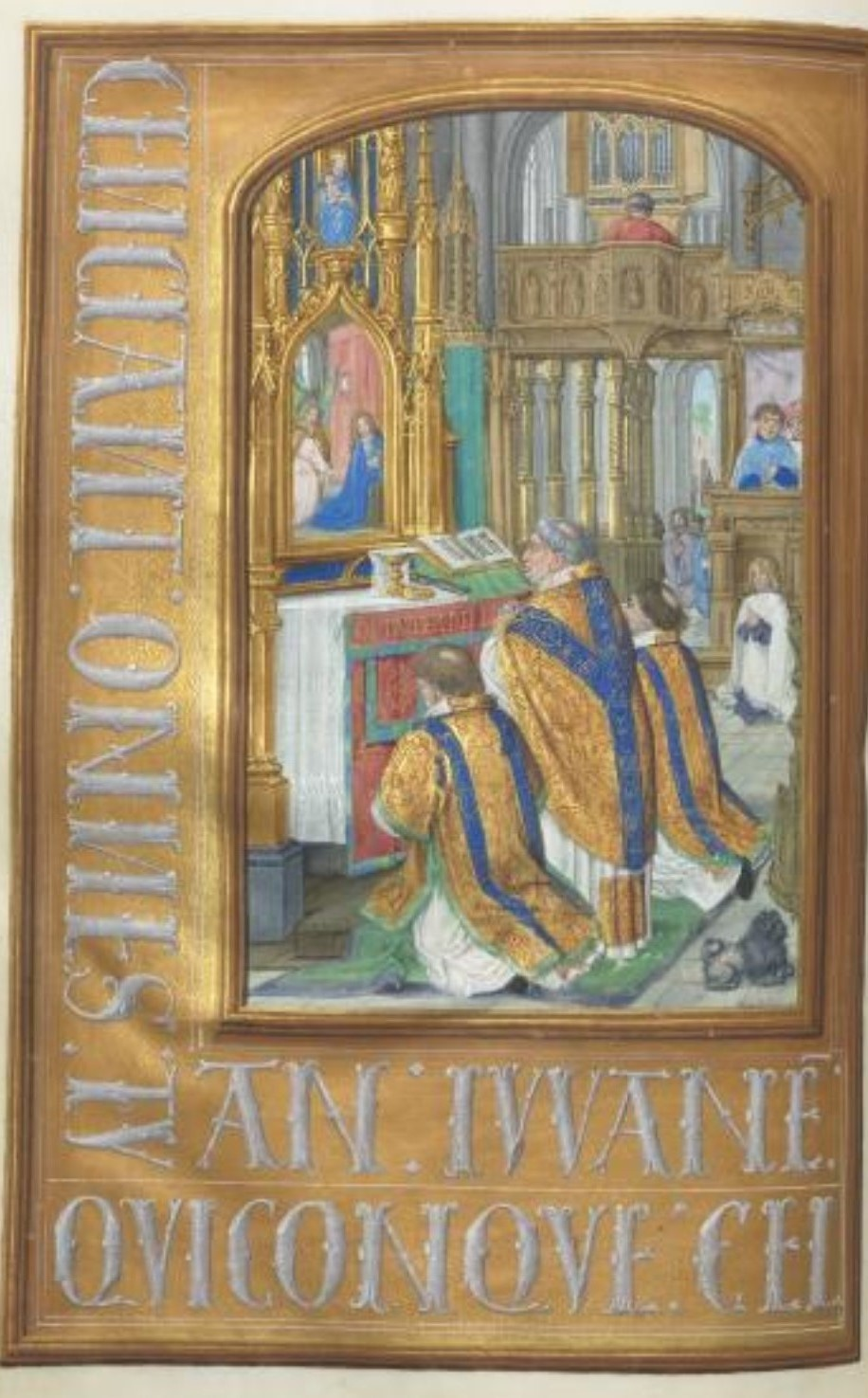 1500 ca Master of the First Prayerbook of MaximillianHours of Queen Isabella the Catholic, Cleveland Museum of Arts, Fol. 87v, Celebration of the Mass