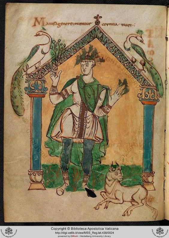 855 ca Martyrologium de Wandalbert de Prum Biblioteca Vaticana Cod. Reg. Lat. 438 fol 10v Mai