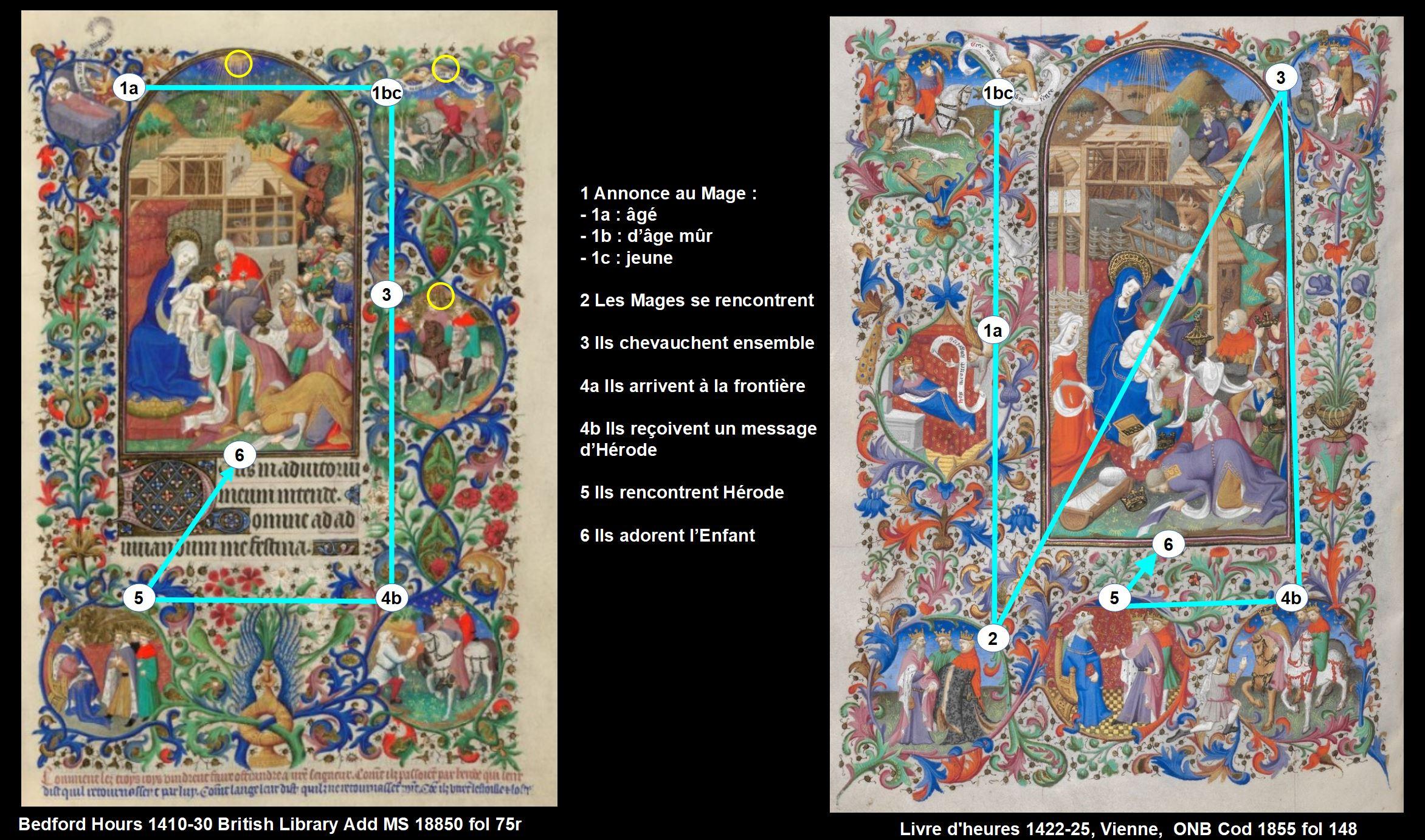 Bedford Hours comparaison Bedford 1855 Adoration Mages