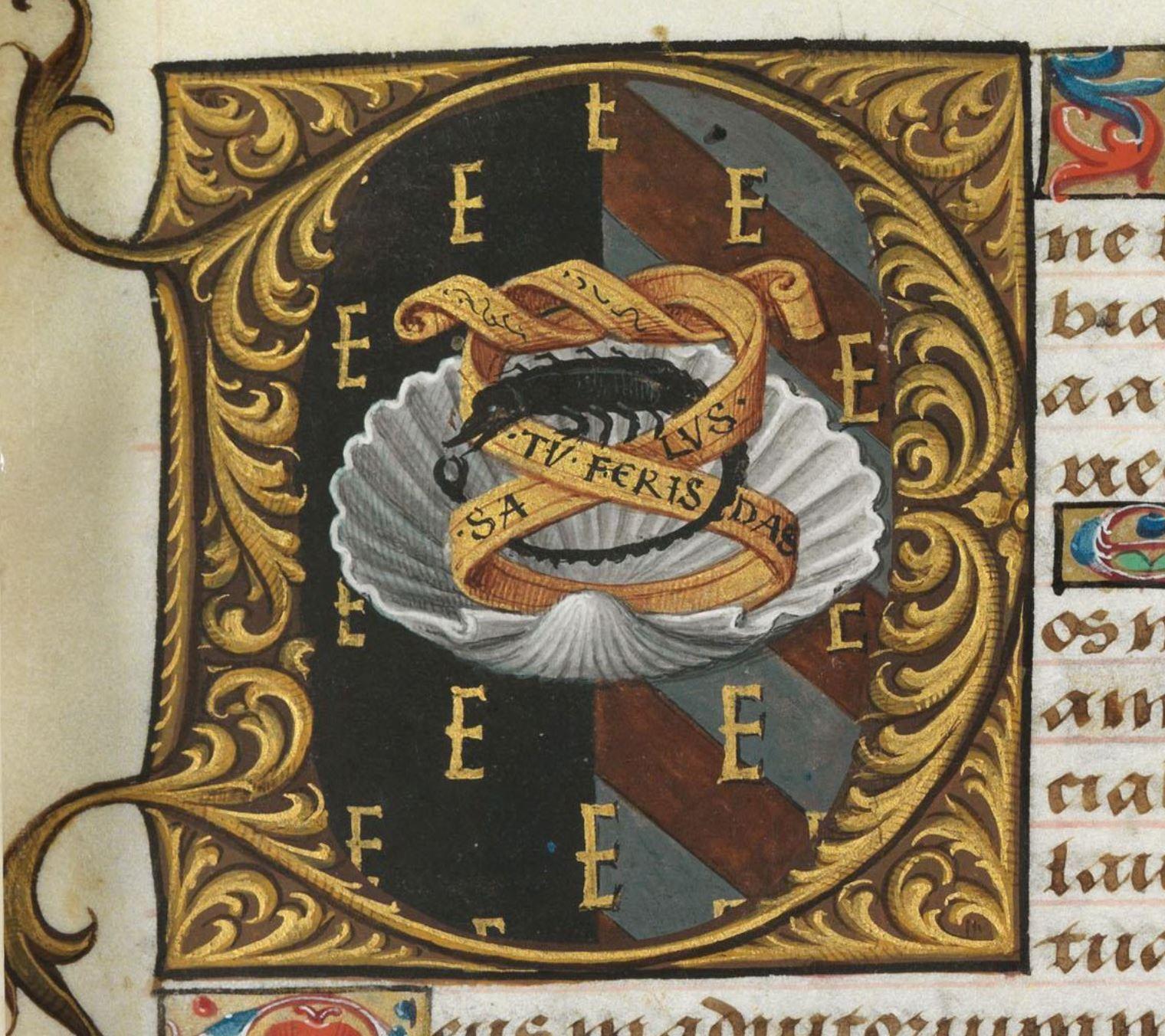Bibliotheque de l'Ecole des Beaux-Arts, Ms.Mas 0137 p 13 detail
