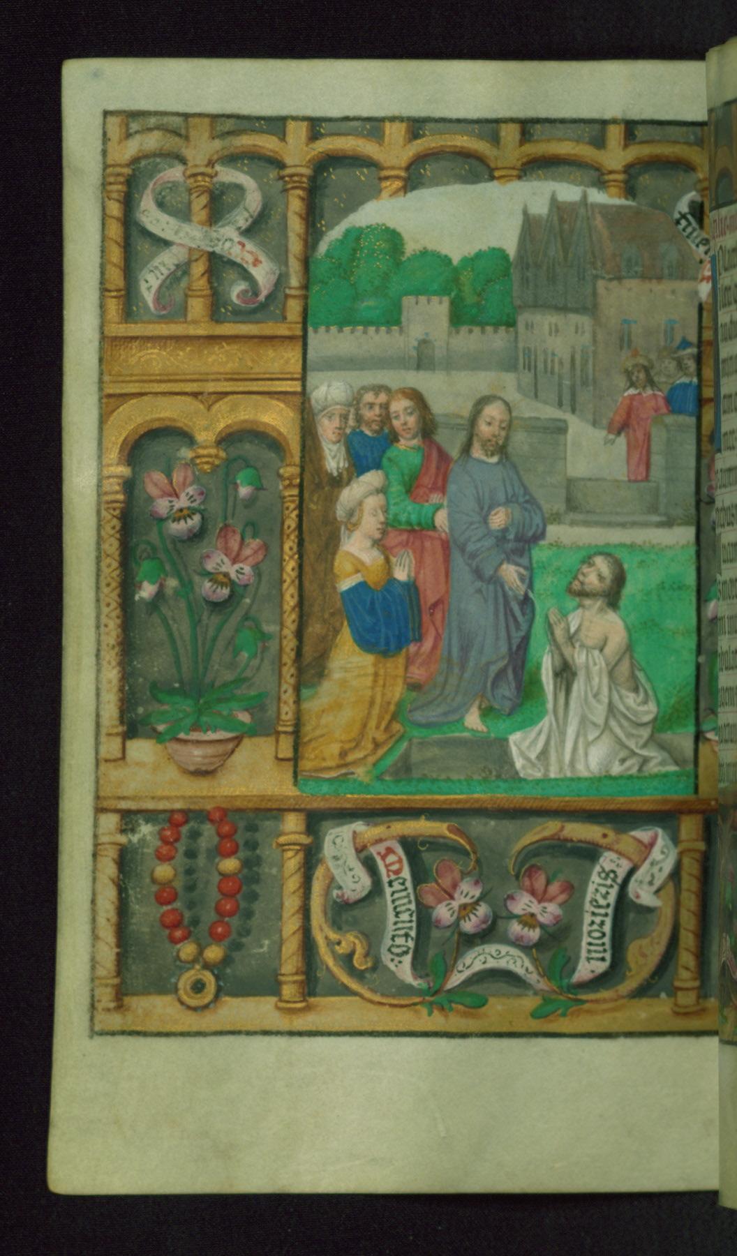 Book of Hours 1500 ca Ms. W.427 Walters Art Museum Baltimore Resurrection de Lazare fol 158v
