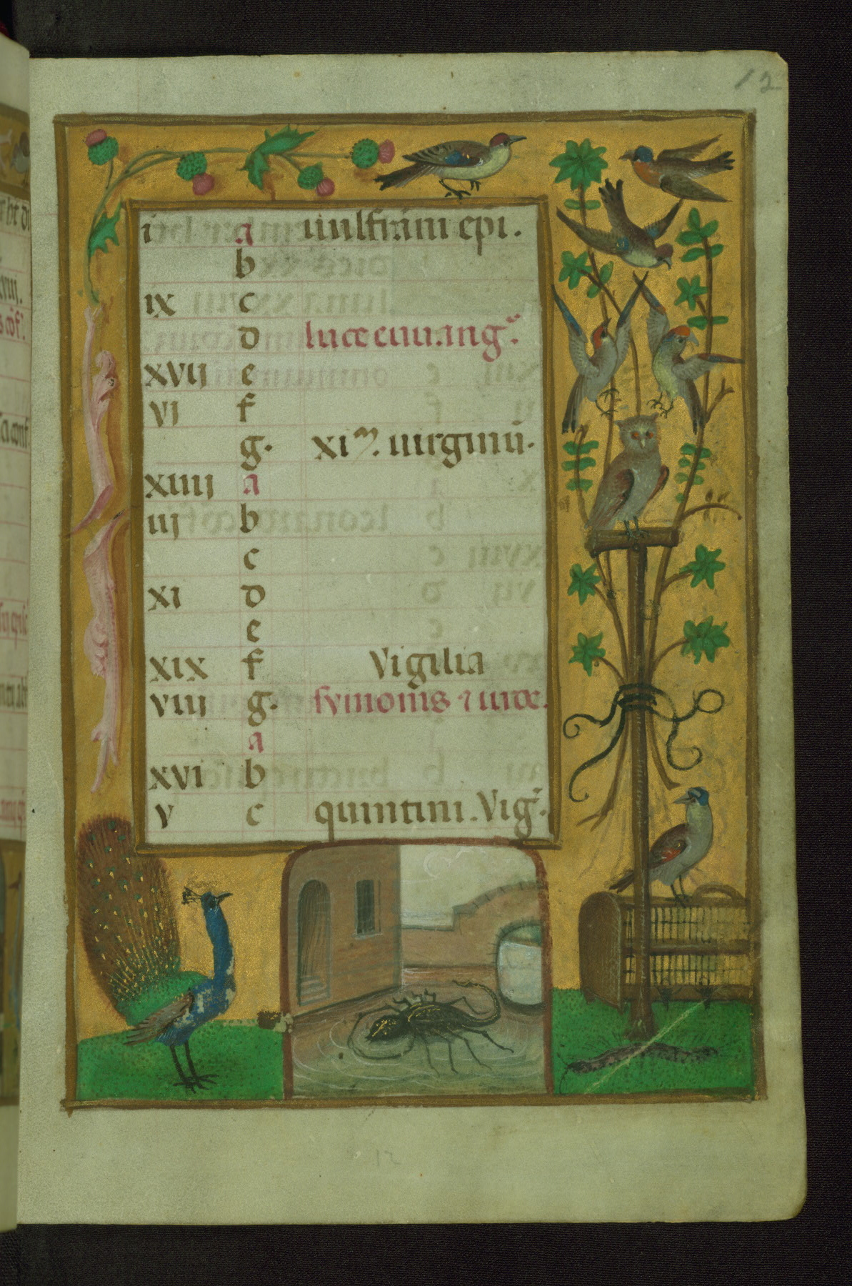 Book of Hours 1500 ca Ms. W.427 Walters Art Museum Baltimore fol. 12r (octobre)