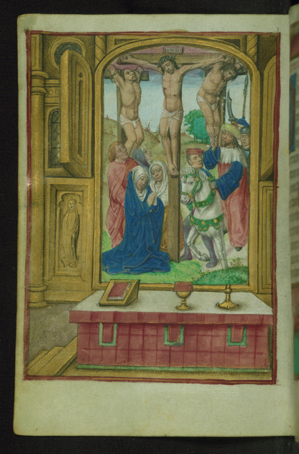 Book of Hours 1500 ca Ms. W.427 Walters Art Museum Baltimore fol. 18v Crucifixion