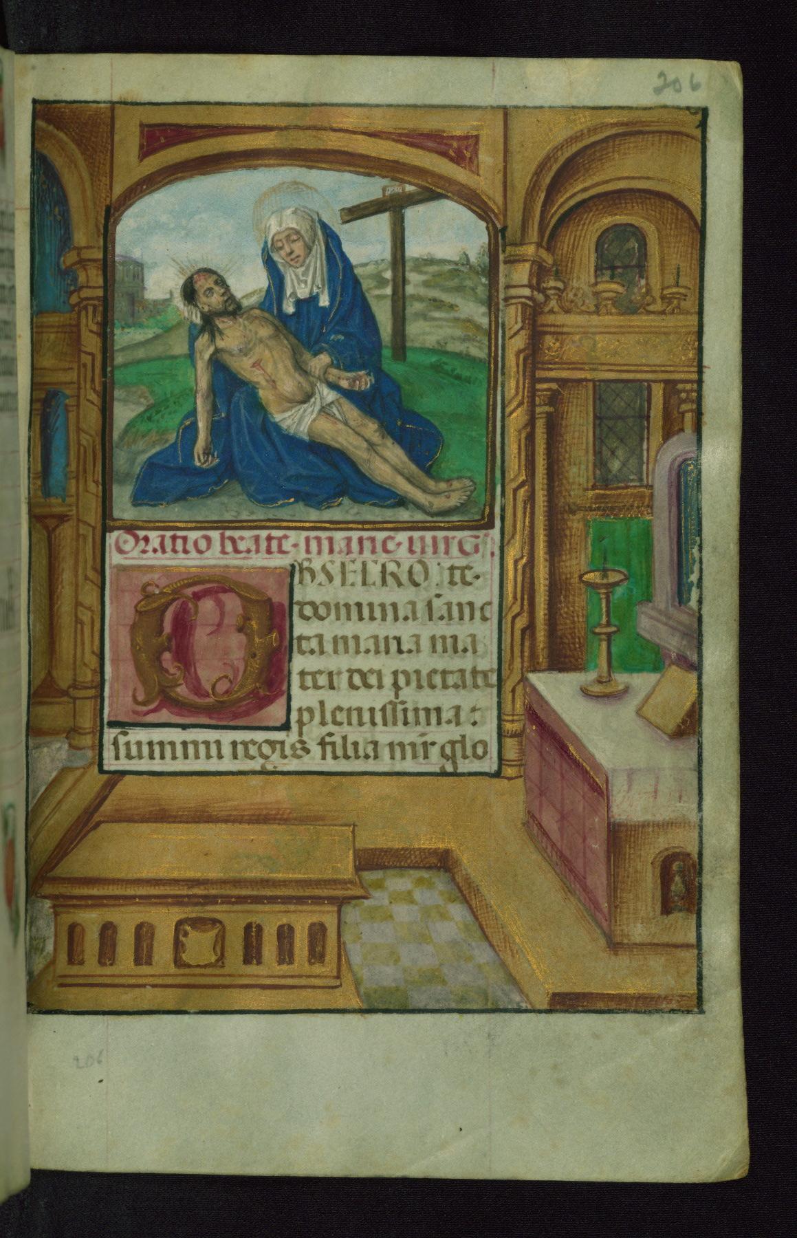 Book of Hours 1500 ca Ms. W.427 Walters Art Museum Baltimore fol. 206r Pieta