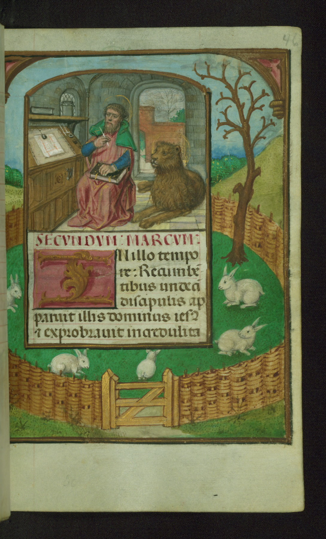 Book of Hours 1500 ca Ms. W.427 Walters Art Museum Baltimore fol. 46r st Marc