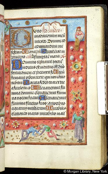 Book of Hours Belgium, Bruges, ca. 1500 Morgan MS M.390 fol. 45r