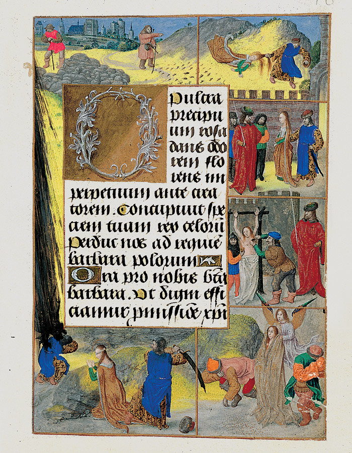 Book of Hours of Ferdinand and Isabella of Spain (Voustre Demeure) 1475 ca Saint Barbe fol 48r