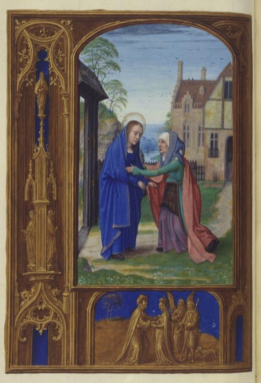 Croy Prayer book 1515-20 Simon Beining Visitation ONB Cod. 1858, fol. 54v