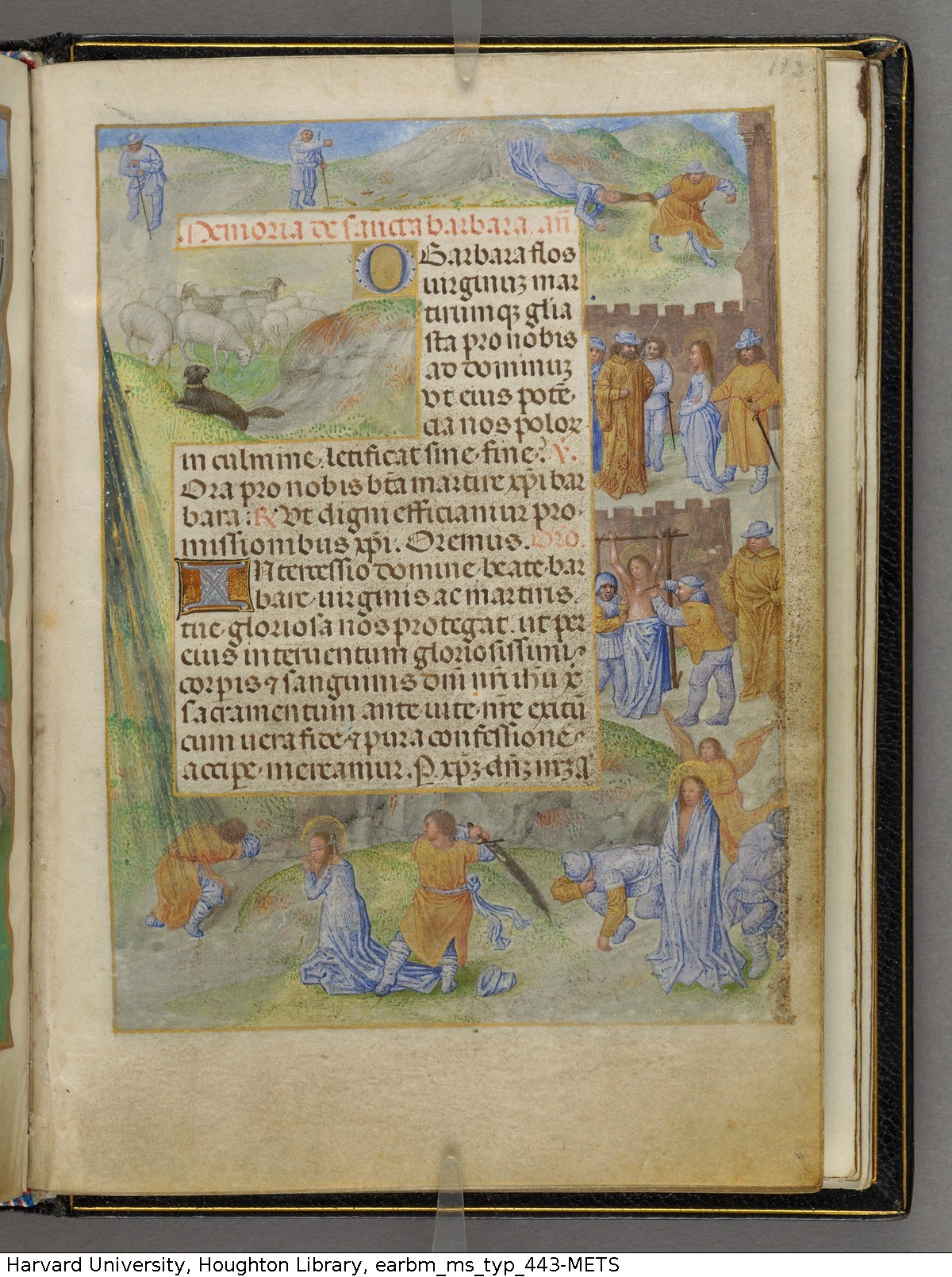 Emerson-White Hours use of Rome 1480 ca Harvard University, Houghton Library, MSS Typ 443 fol 113