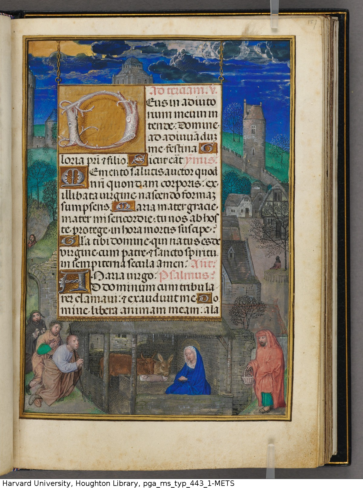 Emerson-White Hours use of Rome 1480 ca Harvard University, Houghton Library, MSS Typ 443.1 fol 157