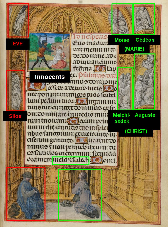 Emerson-White Hours use of Rome 1480 ca Harvard University, Houghton Library, MSS Typ 443.1 fol 166 Simon Marmion Houghton Master schema