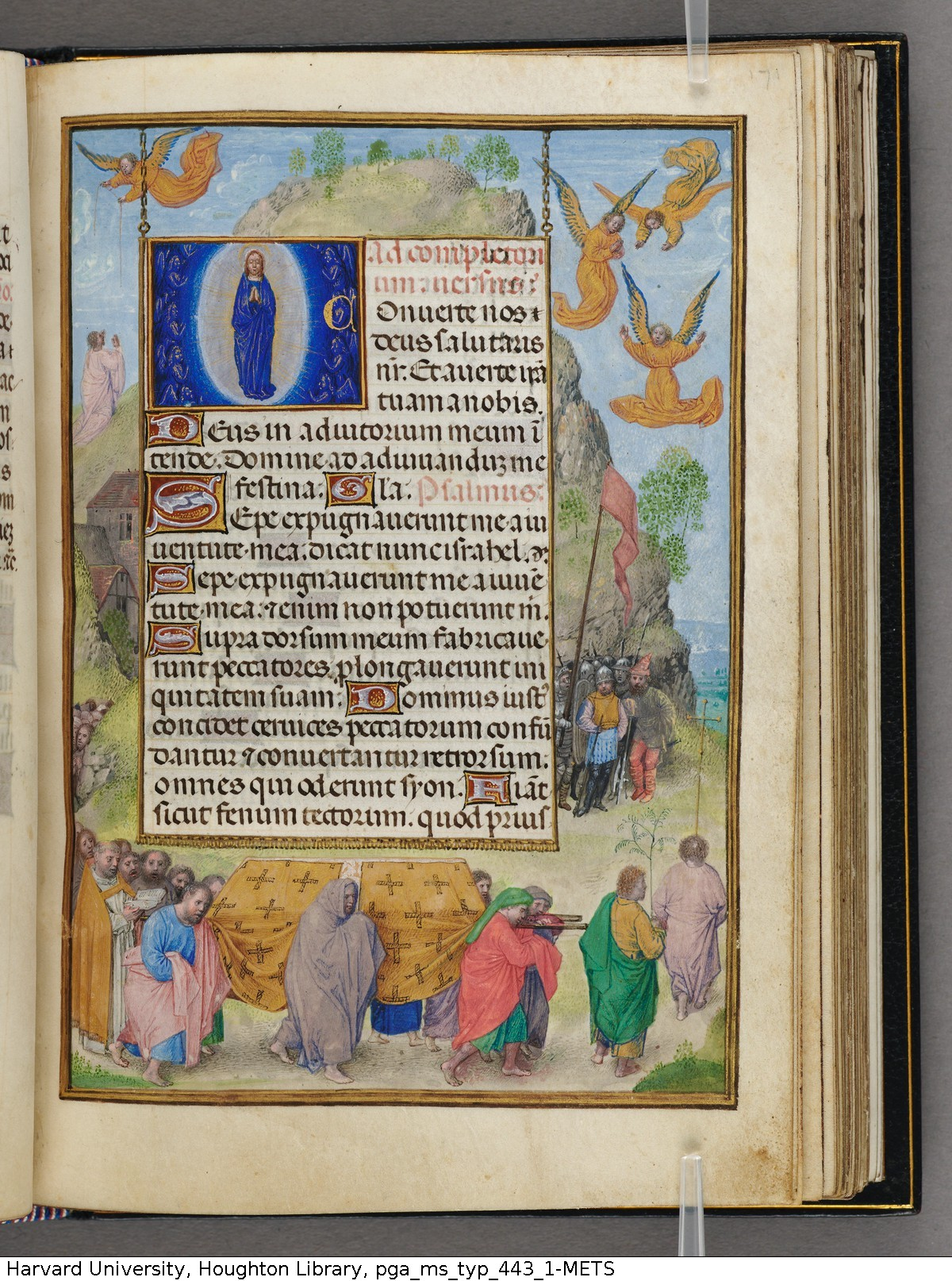 Emerson-White Hours use of Rome 1480 ca Harvard University, Houghton Library, MSS Typ 443.1 fol 171