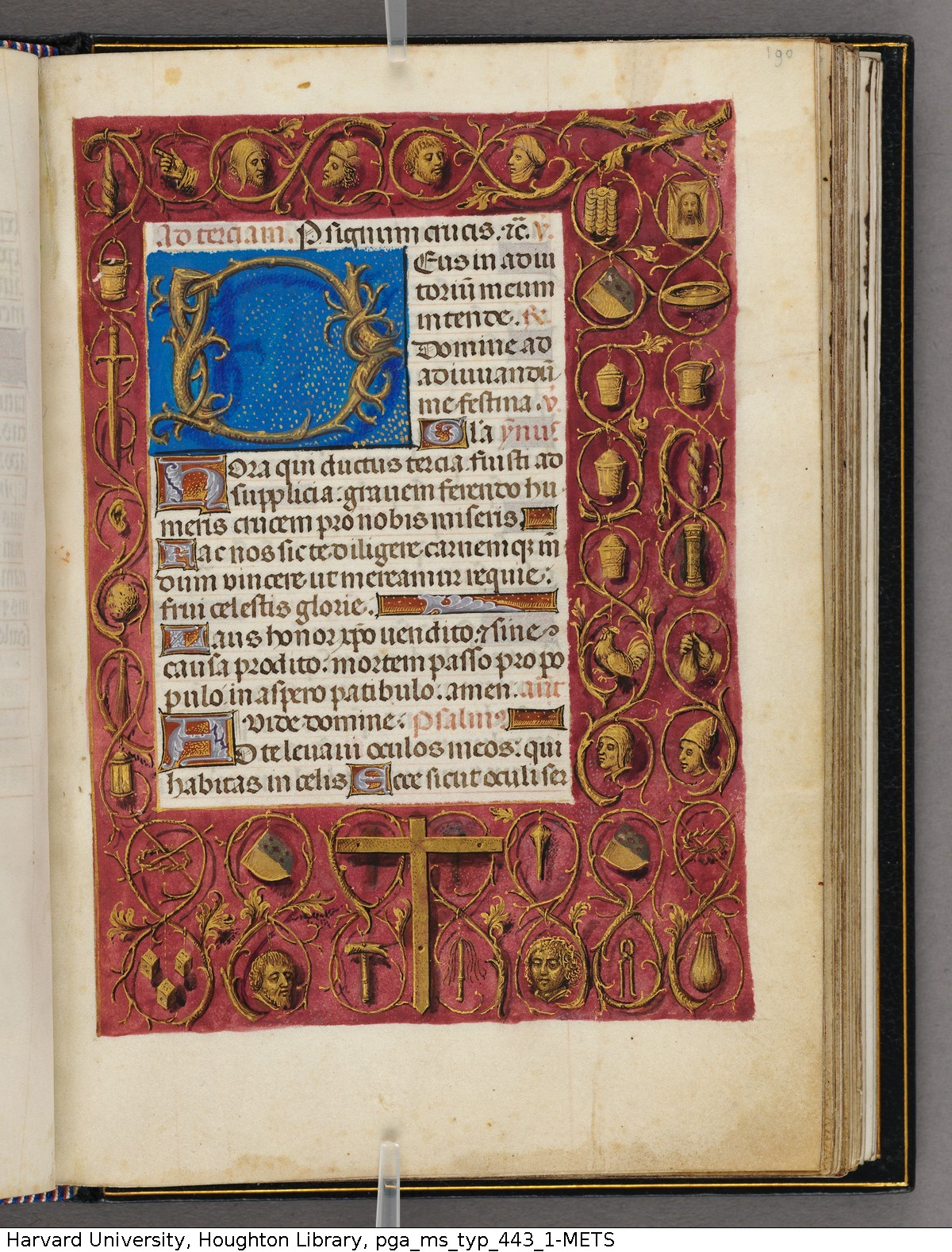 Emerson-White Hours use of Rome 1480 ca Harvard University, Houghton Library, MSS Typ 443.1 fol 190