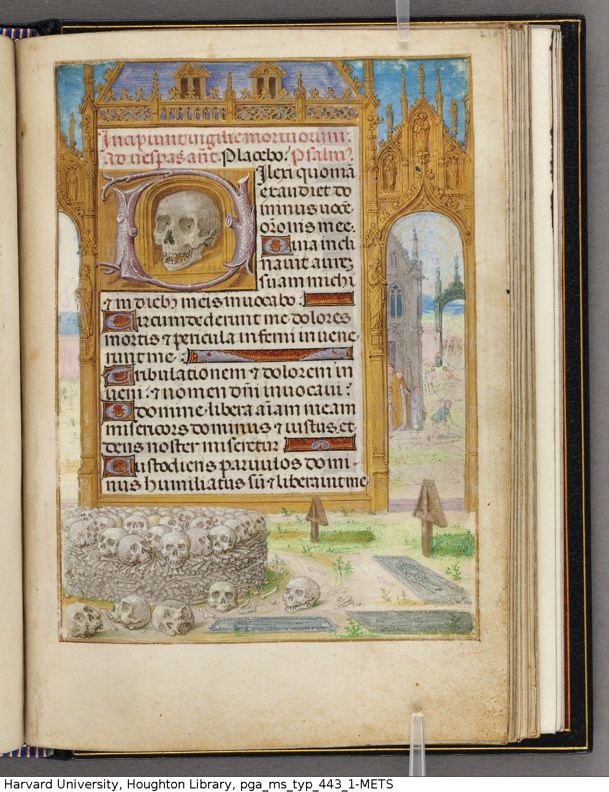 Emerson-White Hours use of Rome 1480 ca Harvard University, Houghton Library, MSS Typ 443.1 fol 216