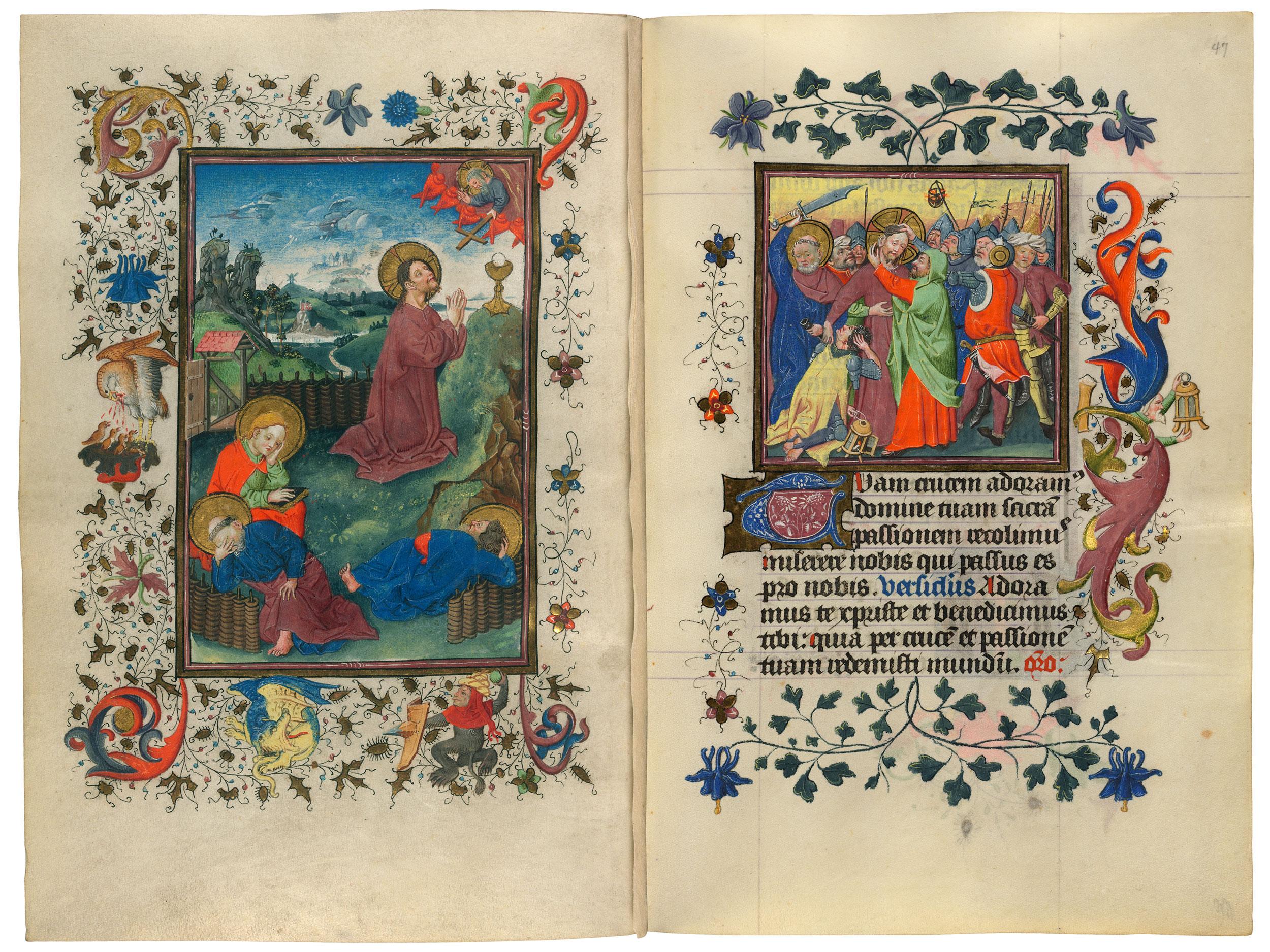 Heures de Catherine de Cleves ca. 1440 Morgan MS M.917-945 fol 47r,