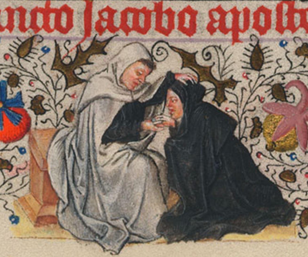 Heures de Catherine de Cleves ca. 1440 Morgan MS M.917-945, pp. 216Saint Jacques