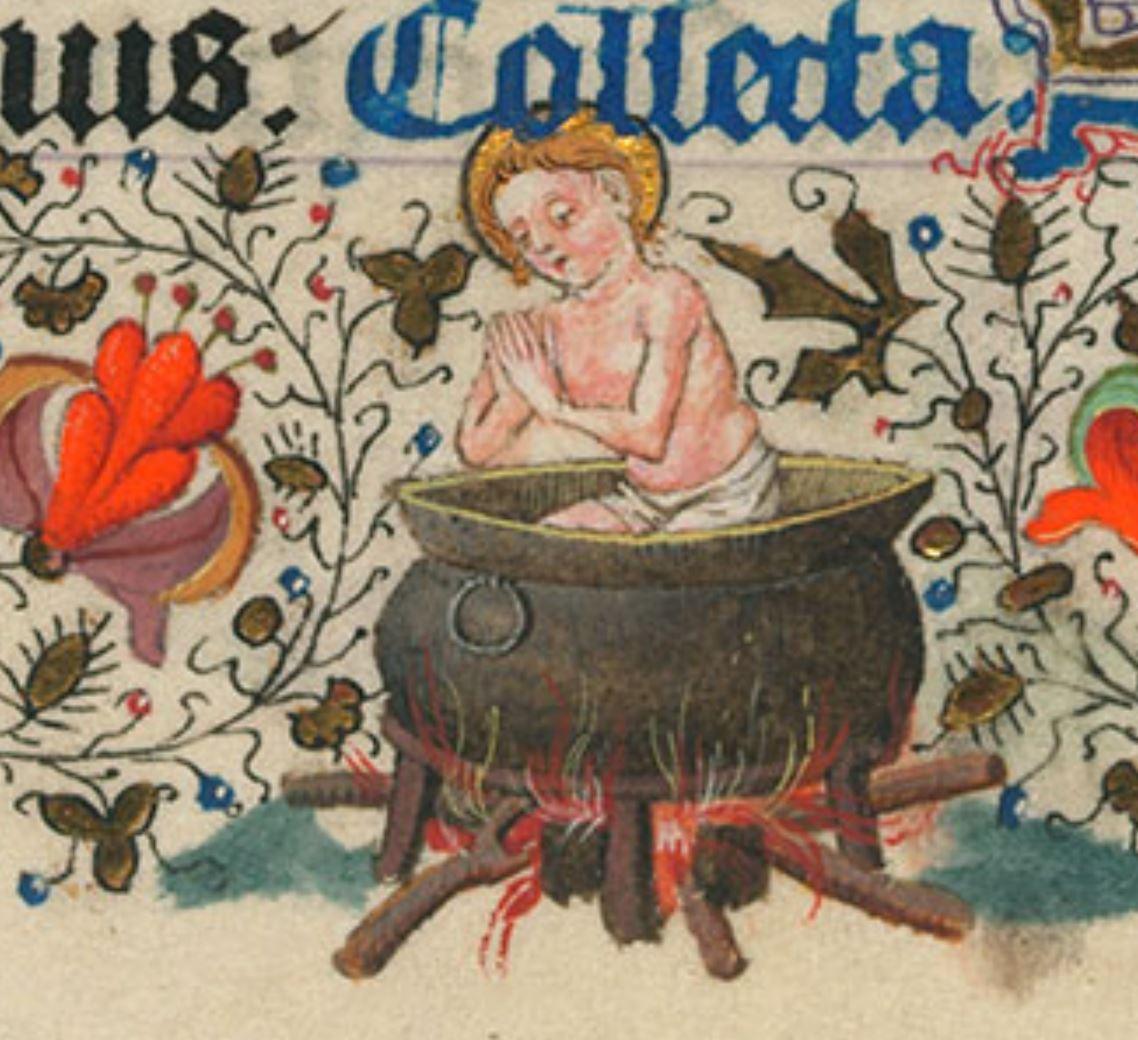 Heures de Catherine de Cleves ca. 1440 Morgan MS M.917-945, pp. 218 St Jean