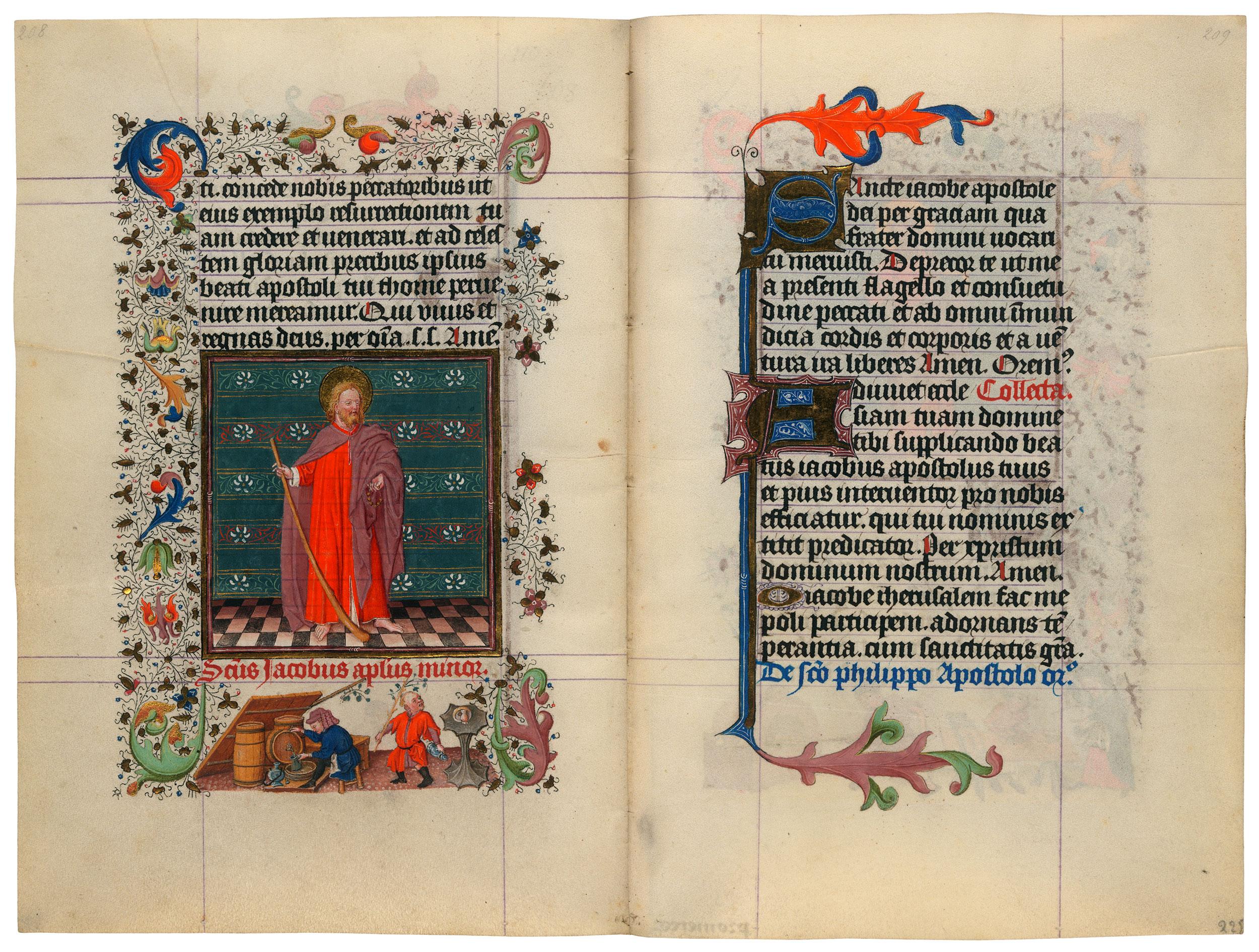 Heures de Catherine de Cleves ca. 1440 Morgan MS M.917-945, pp. 224-25 St Jacques