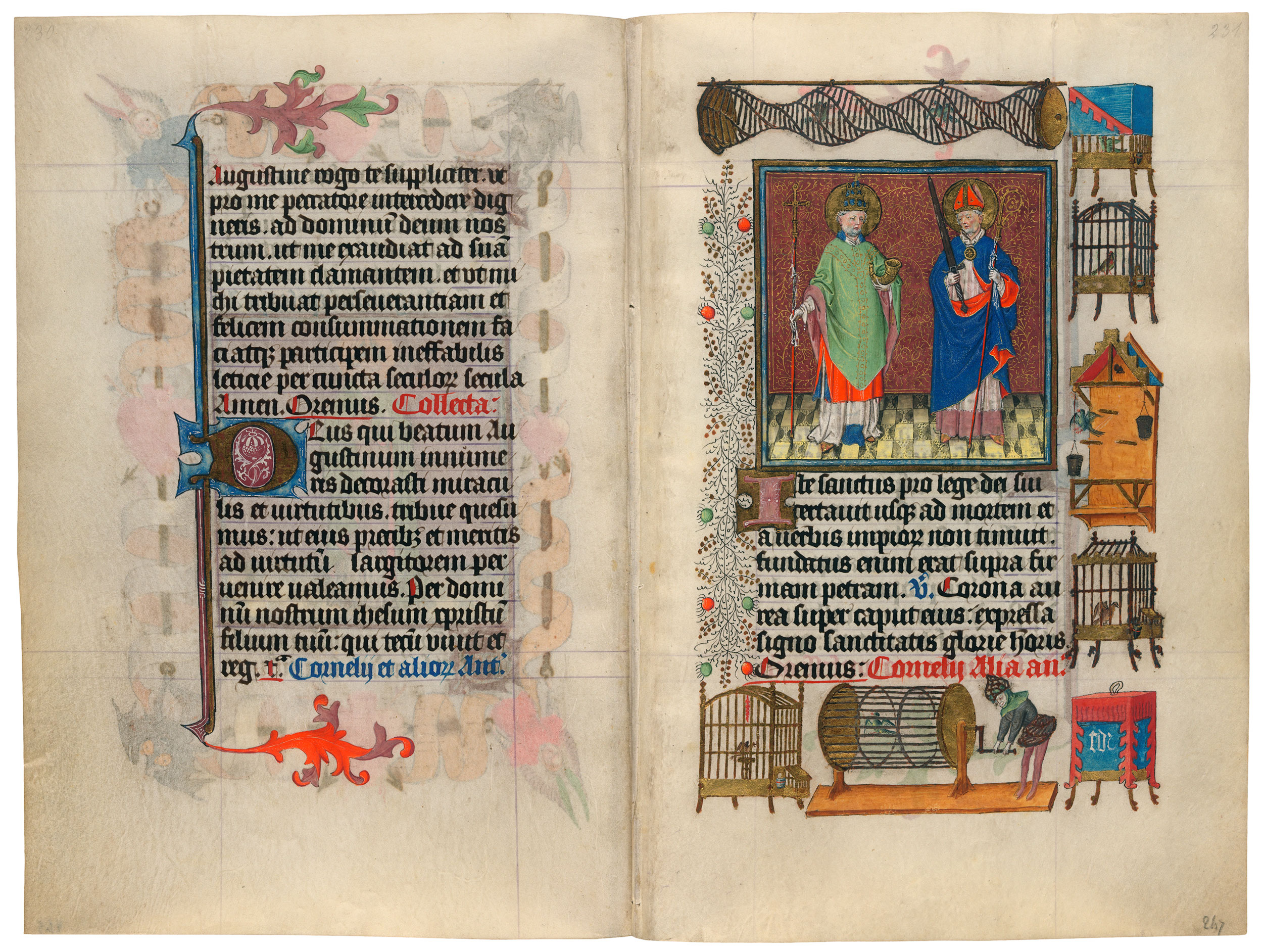 Heures de Catherine de Cleves ca. 1440 Morgan MS M.917-945, pp. 246–47 SS. Cornelius and Cyprian