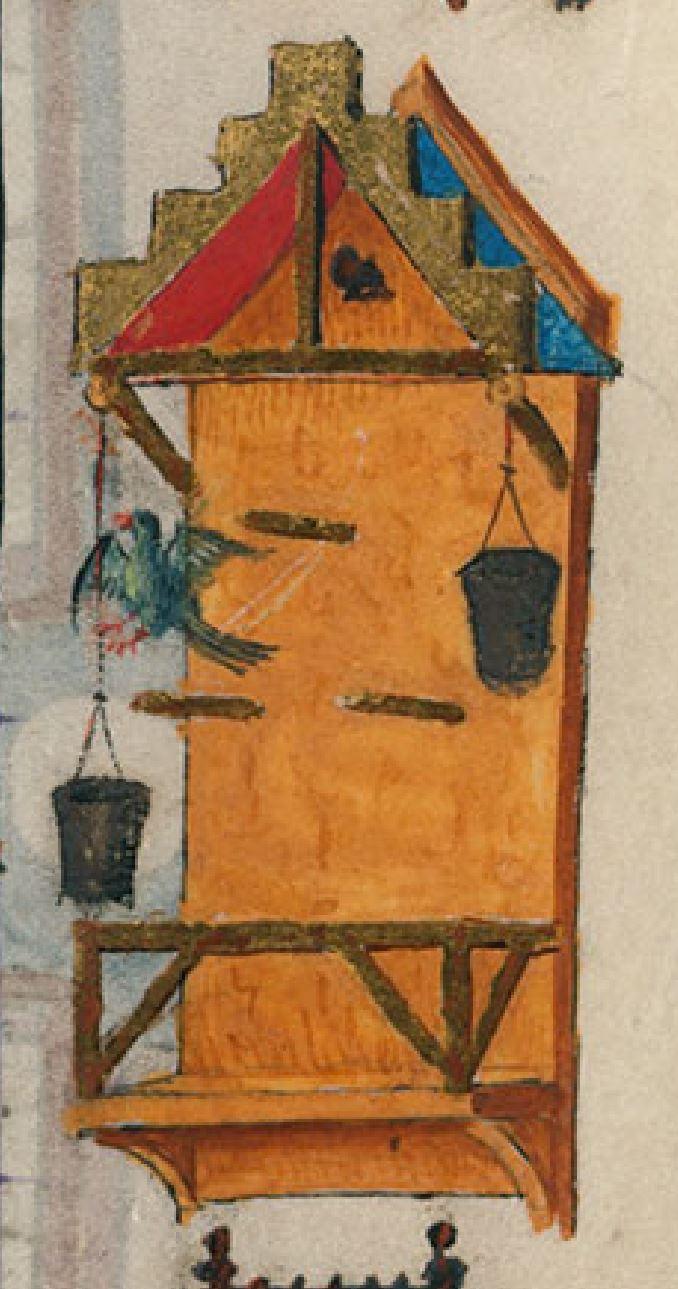 Heures de Catherine de Cleves ca. 1440 Morgan MS M.917-945, pp. 246–47 SS. Cornelius and Cyprian detail