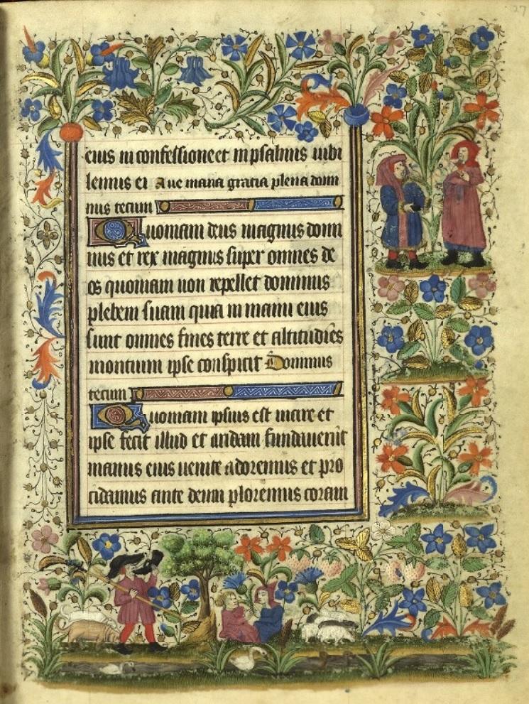 Heures de Catherine de Rohan et de Francoise de Dinan Rennes, BM, 0034 bis fol 027
