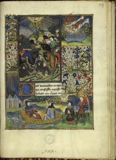 Heures de Jean de Montauban 1450 ca Rennes Ms 1834 fol 119r Saint Julien