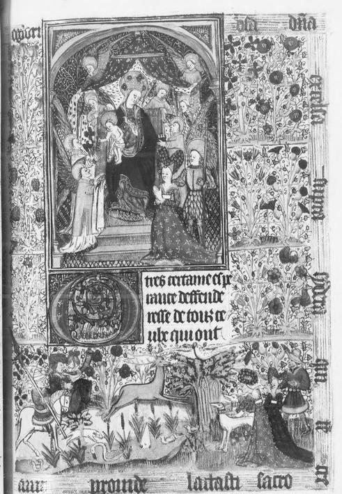 Heures de Jean de Montauban et Anne de Kerenrais BnF. ms. lat. 18026 vue 24