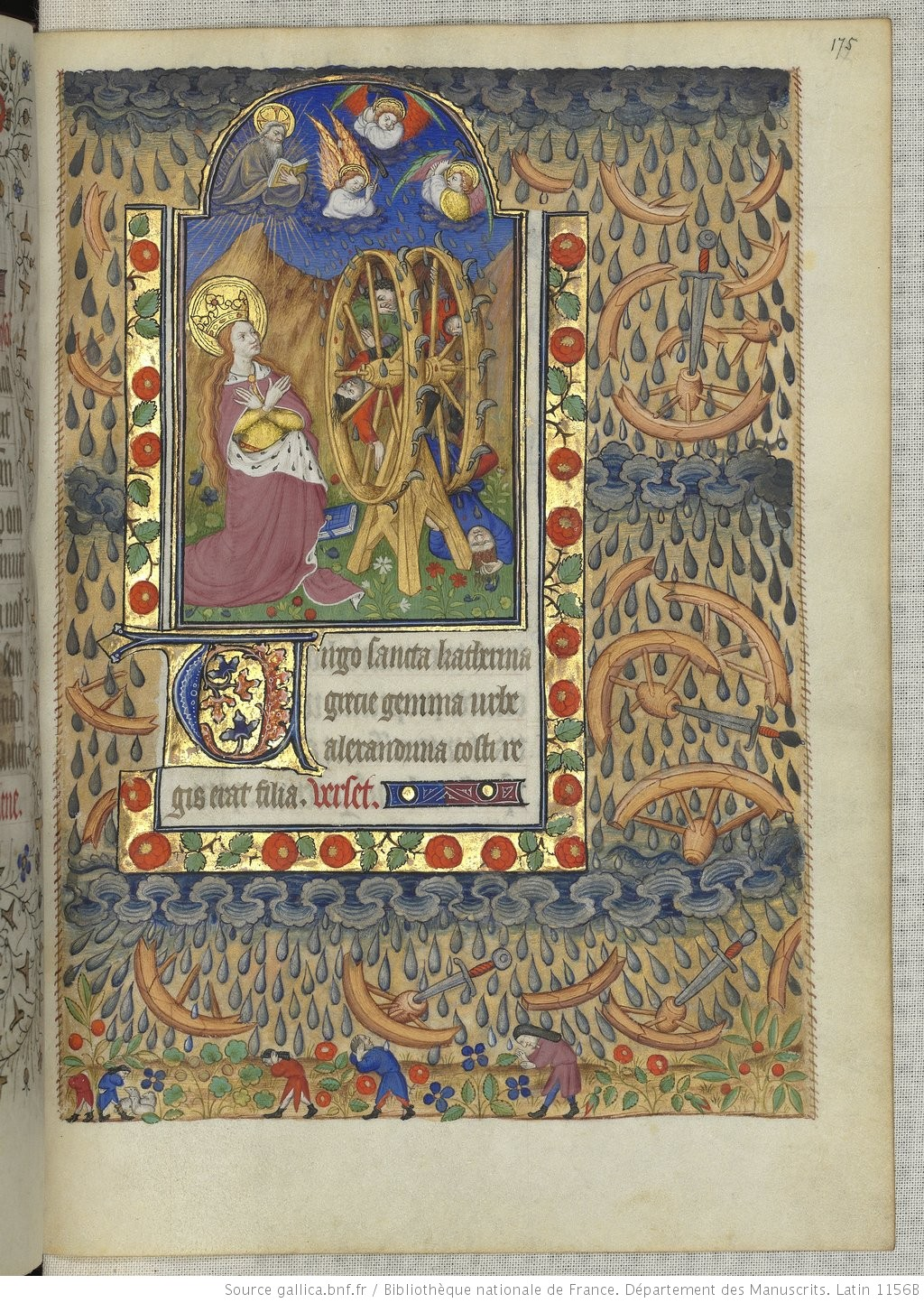 Heures de Marguerite d'Orleans 1430 ca BNF Latin 1156B fol 175r Gallica
